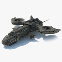 3d fictional aircraft dropship