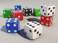 3d model dice set plastic