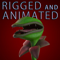 Carnivorous Plant RIGGED ANIMATED