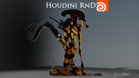 Houdini 14 - Melting Alien