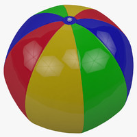 inflatable pool ball 3d model