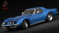 3d max chevrolet corvette zr-1 1970