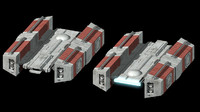 bff-1 bulk freighter 3d model
