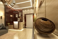 interior office entrance 3d max