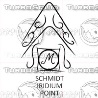 Schmidt Iridium Point Engraving Logo