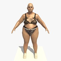 realistically european woman clothed 3d model