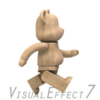 cartoon robotic 3d model