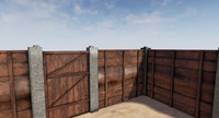 3ds max wooden fence gate