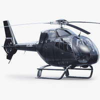 3d eurocopter ec 120 black model