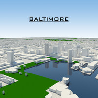baltimore cityscape 3d model