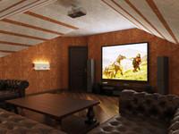 3d model interior home
