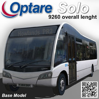 optare solo bus 9260 3d model