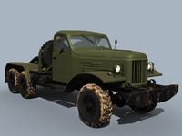 3d model zil-157 truck tractor