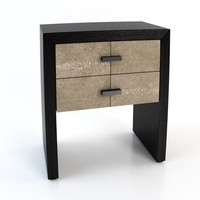 3d model ginger brown bedside table