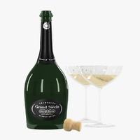 maya botle glasses grand champagne