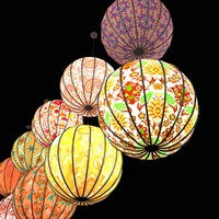 light paper lanterns 3d max