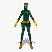 3d green warior