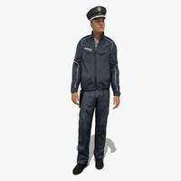 3d model police policeman man