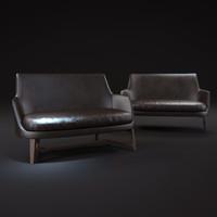 guscio-leather-sofa 3d max