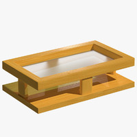 modern coffee table hard wood 3d 3ds