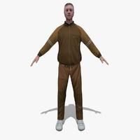 3d man sporty sport model