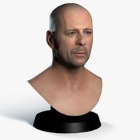 3d bruce willis printing model