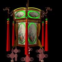 3dsmax chinese lantern lighting lamp