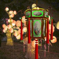 3d chinese lantern lighting lamp