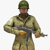 3ds max rig soldier ww2 paratrooper