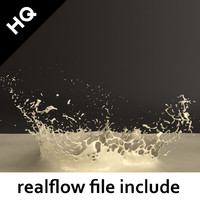 3d model splash realflow flow