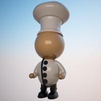 3d character cartoon toon model