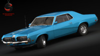 3d model mercury cougar 1967