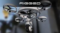 modern surveillance drone c4d
