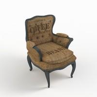 3d max burlap chair