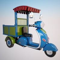 cartoon motorcycle cycle 3d model