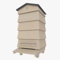 bee apiary 3d model