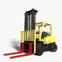 realistic rigged hyster 80 3d model