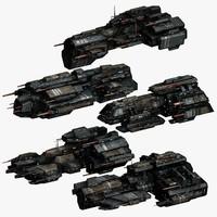 5 spaceship frigates max