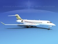 3ds global express bombardier 8000