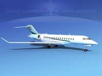global express bombardier 8000 3d max