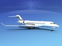 global express bombardier 8000 3d dxf