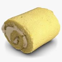 3d model cream roll cake
