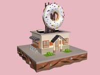 donut house 3d model