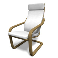 3d model ikea inspired chair