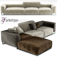 3d model sofa arketipo inkas