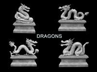 3ds max dragon statue