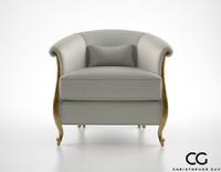 christopher guy greta armchair 3d model