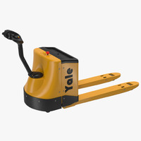 maya powered pallet jack yellow
