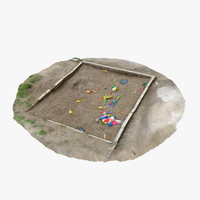 3d old sandpit -