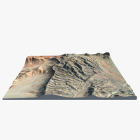 3d model of namibian mountain chain